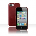 Zenus Masstige Bar Leather Case for Apple iPhone 4 [Vintage Red]